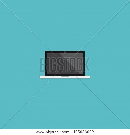 Flat Icon Laptop Element. Vector Illustration Of Flat Icon Monitor Isolated On Clean Background. Can Be Used As Monitor, Laptop And Screen Symbols.