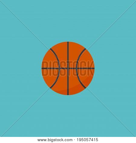 Flat Icon Basketball Element. Vector Illustration Of Flat Icon Basket  Isolated On Clean Background. Can Be Used As Basket, Basketball And Ball Symbols.