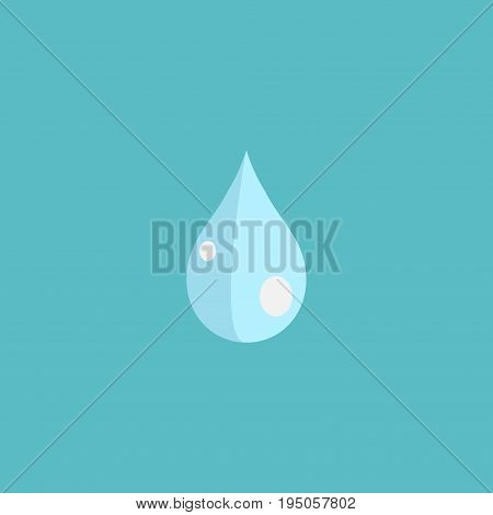 Flat Icon Drop Element. Vector Illustration Of Flat Icon Water Isolated On Clean Background. Can Be Used As Water, Drop And Blob Symbols.