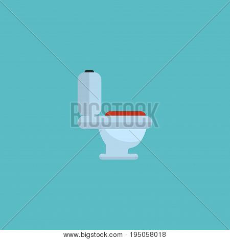 Flat Icon Toilet Element. Vector Illustration Of Flat Icon Restroom Isolated On Clean Background. Can Be Used As Toilet, Restroom And Wc Symbols.