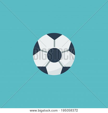Flat Icon Football Element. Vector Illustration Of Flat Icon Ball  Isolated On Clean Background. Can Be Used As Football, Field And Ball Symbols.