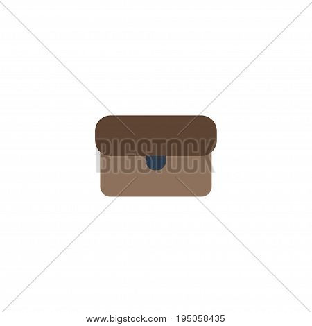 Flat Icon Briefcase Element. Vector Illustration Of Flat Icon Suitcase Isolated On Clean Background. Can Be Used As Suitcase, Briefcase And Portfolio Symbols.