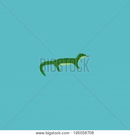 Flat Icon Gecko Element. Vector Illustration Of Flat Icon Reptile  Isolated On Clean Background. Can Be Used As Gecko, Reptile And Reptilian Symbols.