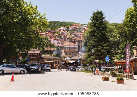 METSOVO, GREECE - July 02 2017. View on Metsovo,the famous ski resort town in summer,  Ioannina prefecture, Epirus,  Greece