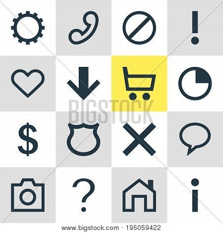 Vector Illustration Of 16 Member Icons. Editable Pack Of Heart, Talk Bubble, Money Making And Other Elements.