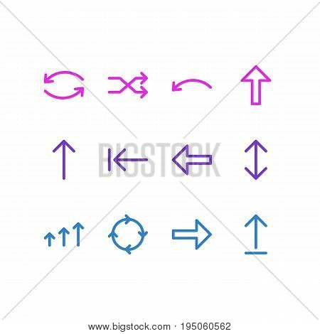 Vector Illustration Of 12 Sign Icons. Editable Pack Of Submit, Circle, Increase And Other Elements.