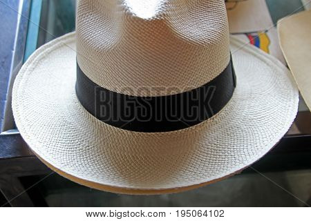 Panama straw hat grades showed at the manufacterer, standard fino grade, Montecristi, Ecuador, South America