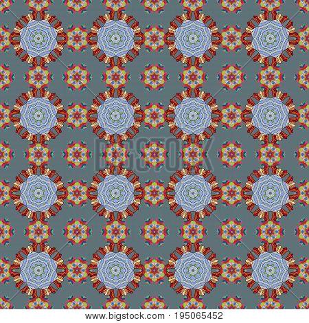Colorful mandala. Oriental flourish vector. Yoga logo background for meditation poster. Indian flower mandala. Decorative colored round ornament. Anti-stress mandala.