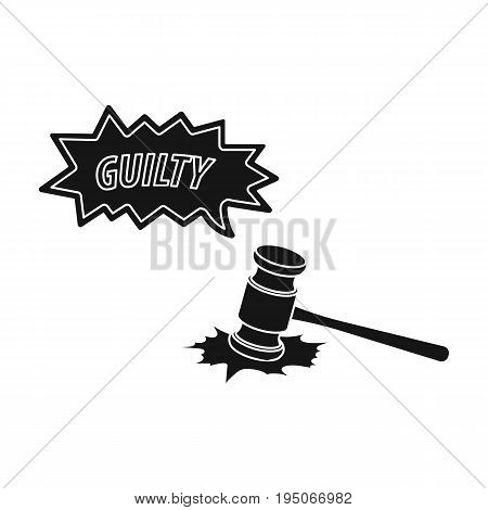 Justice and sentence. E-commerce single icon in black style vector symbol stock illustration .