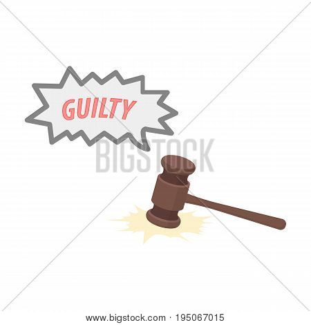 Justice and sentence. E-commerce single icon in cartoon style vector symbol stock illustration .