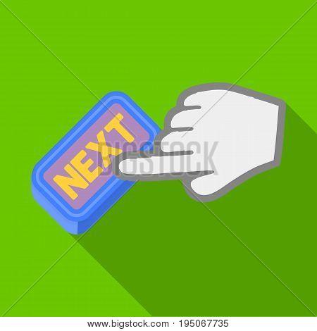 Click the button next. E-commerce single icon in flat style vector symbol stock illustration .