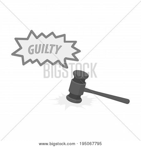 Justice and sentence. E-commerce single icon in monochrome style vector symbol stock illustration .