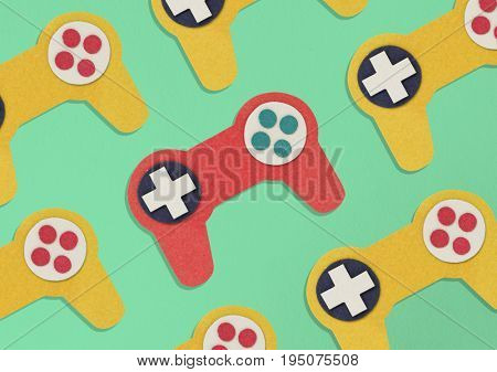 collection of game controller hobby illustration