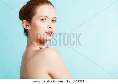 Young Woman With Naked Shoulders