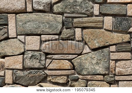 Modern stone masonry. Background texture.