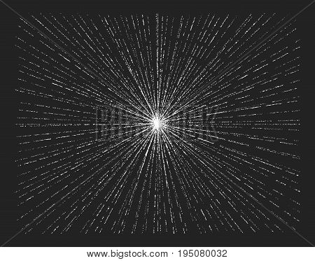 Light rays, sunburst, starburst. Hand drawn chalk vector. Eps8 RGB Global colors