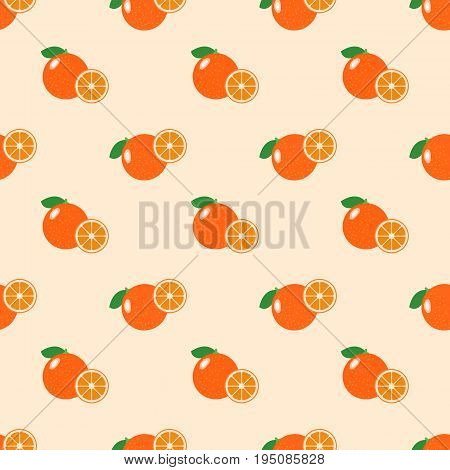 Seamless Background Image Colorful Tropical Fruit Citrus Orange