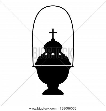 Censer, a container, usually covered, in which incense is burned, especially during religious services