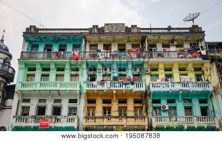 Buildings At Downtown In Yangon, Myanmar