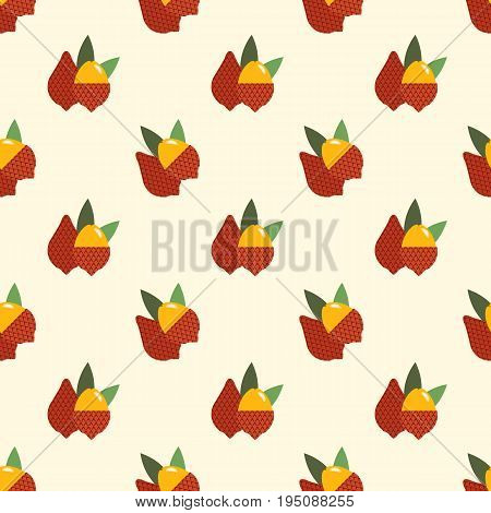 Seamless Background Image Colorful Tropical Fruit Salak