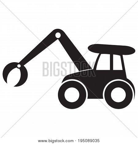 Loader vector icons earth mover bulldozer computer
