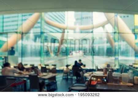 Abstract blurred scene in restaurant Concept blurred