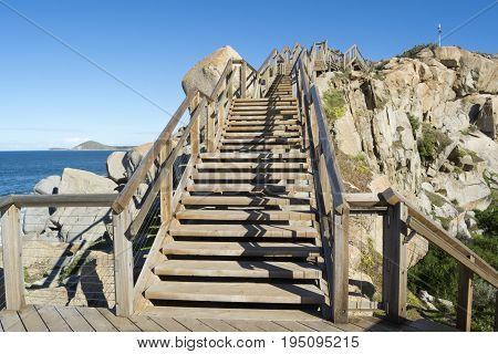 Steps At Granite Island, Victor Harbor, South Australia