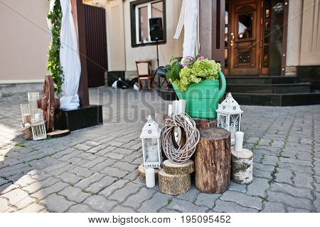 Perfect wedding decorations for special occasion at restaurant.