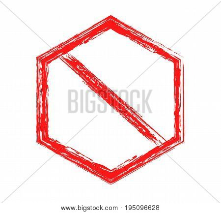 prohibitory sign red isolated sign on white background