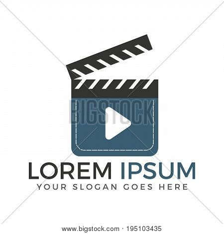 Media and movie player logo. Audio and Video music logo.
