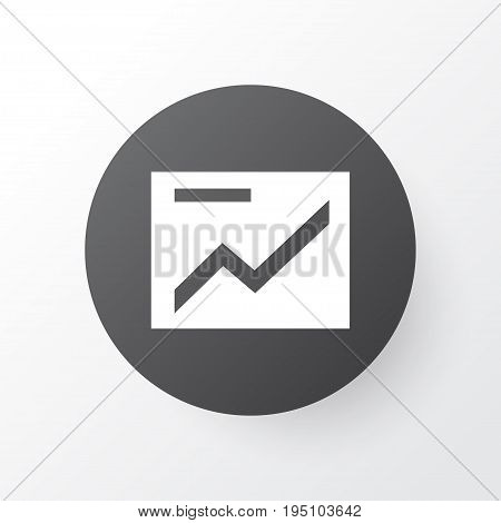 Presentation Icon Symbol. Premium Quality Isolated Chart Element In Trendy Style.