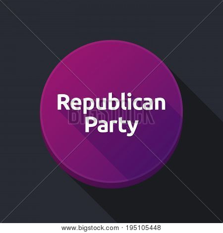 Long Shadow Button With  The Text  Republican  Party