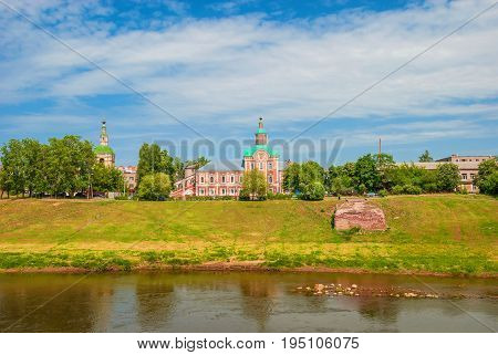 The embankment of Dnieper in ancient Russian city of Smolensk