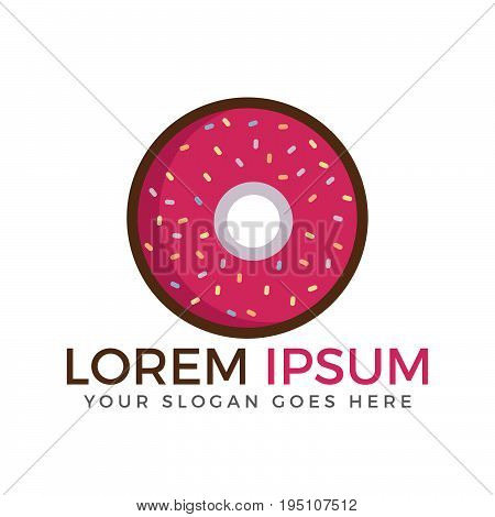 Donut logo vector illustration. Logo Design for Fresh Bakery Products, Bread, Cake, Cupcake, Donut or Grocery Shop.
