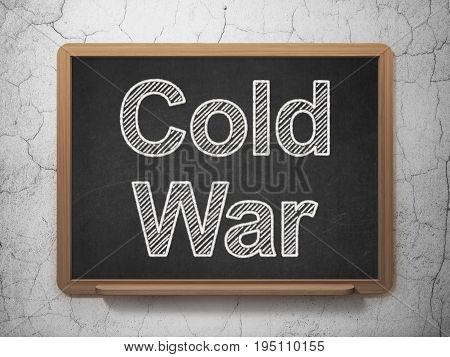 Politics concept: text Cold War on Black chalkboard on grunge wall background, 3D rendering