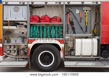 extinguishing media. inventory fire engine. rescue. rescue poster