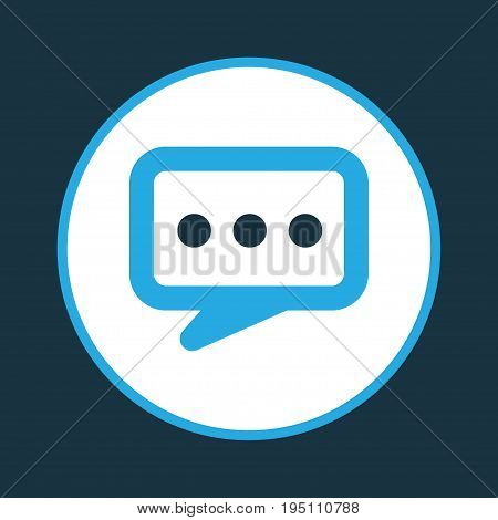 Dialogue Colorful Icon Symbol. Premium Quality Isolated Chatting Element In Trendy Style.