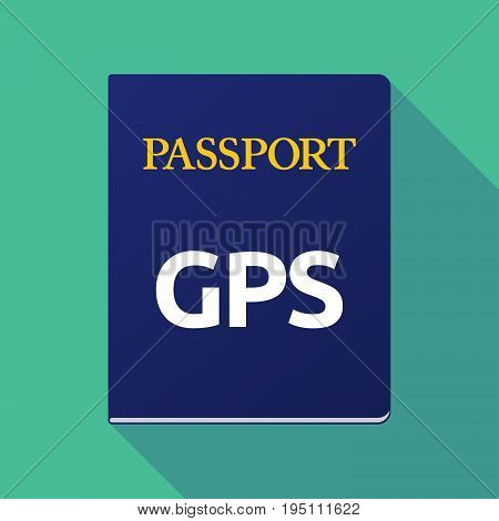 Long Shadow Passport With  The Global Positioning System Acronym Gps