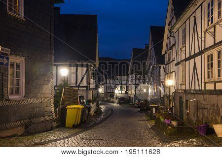 Half-timbered houses of Freudenberg a town in North Rhine-Westphalia Germany