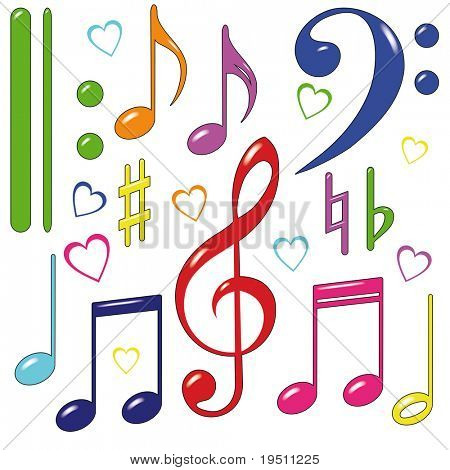 Set of music note.