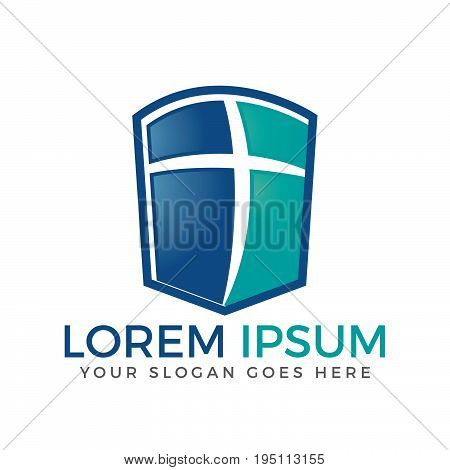 Cross vector logo design template. Template logo for churches and Christian organizations cross . Calvary cross church logo.