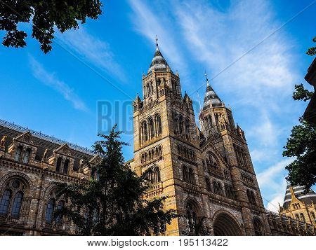 Natural History Museum In London (hdr)