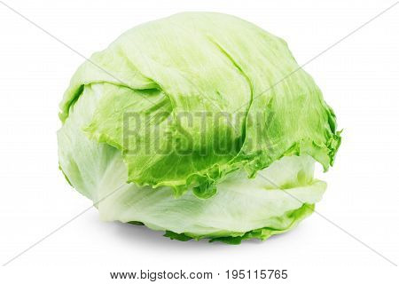 Green cabbage isolated on white background Nobody, Shopping, Health, Raw, Food, Kitchen, Cooking,