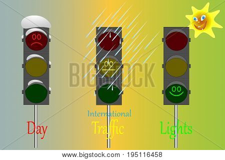 International Day of Traffic Lights / holiday / vector