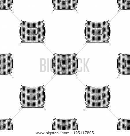 Protective fencing.Baseball single icon in black style vector symbol stock illustration .