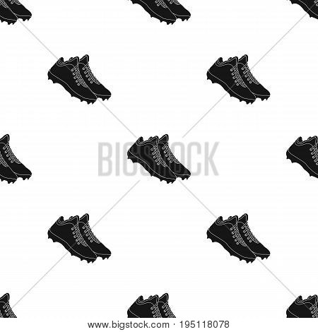 Baseball Sneakers. Baseball single icon in black style vector symbol stock illustration .