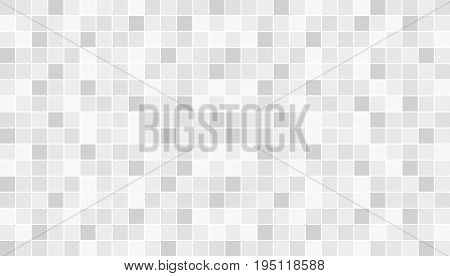 White and gray ceramic floor and wall tiles. Abstract vector background. Geometric mosaic texture. Simple seamless pattern for backdrop advertising banner poster flyer or web