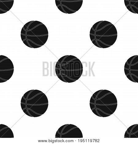 basketball.Basketball single icon in black style vector symbol stock illustration .