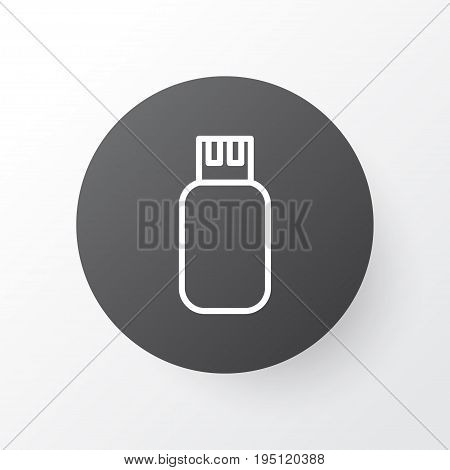 Flash Drive Icon Symbol. Premium Quality Isolated Usb Element In Trendy Style.