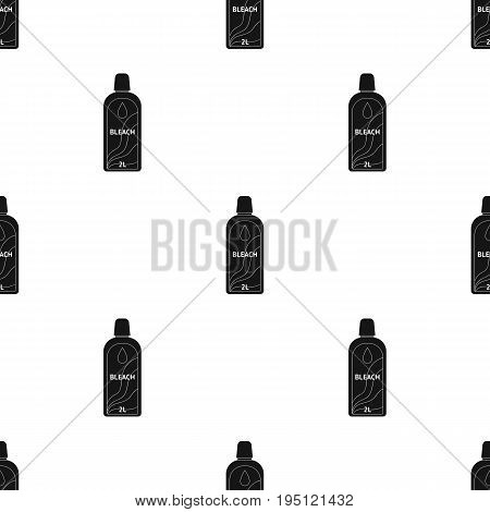 Bottle of bleach. Dry cleaning single icon in black style vector symbol stock illustration .